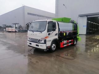 国六江淮高端骏铃V6宽体5方餐厨垃圾车